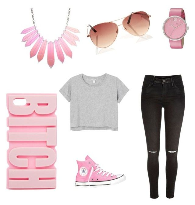 """""""Untitled #12"""" by shaye1z ❤ liked on Polyvore featuring River Island, Monki, Converse, Marc by Marc Jacobs and ASOS"""