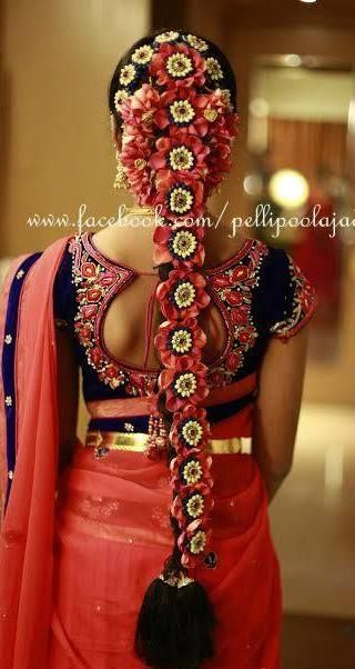 #southindianwedding #floralhairdesign #beautiful #traditional