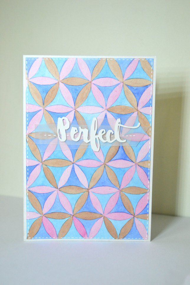 Geometric watercolour cards. watercolour pattern. perfect. vellum.