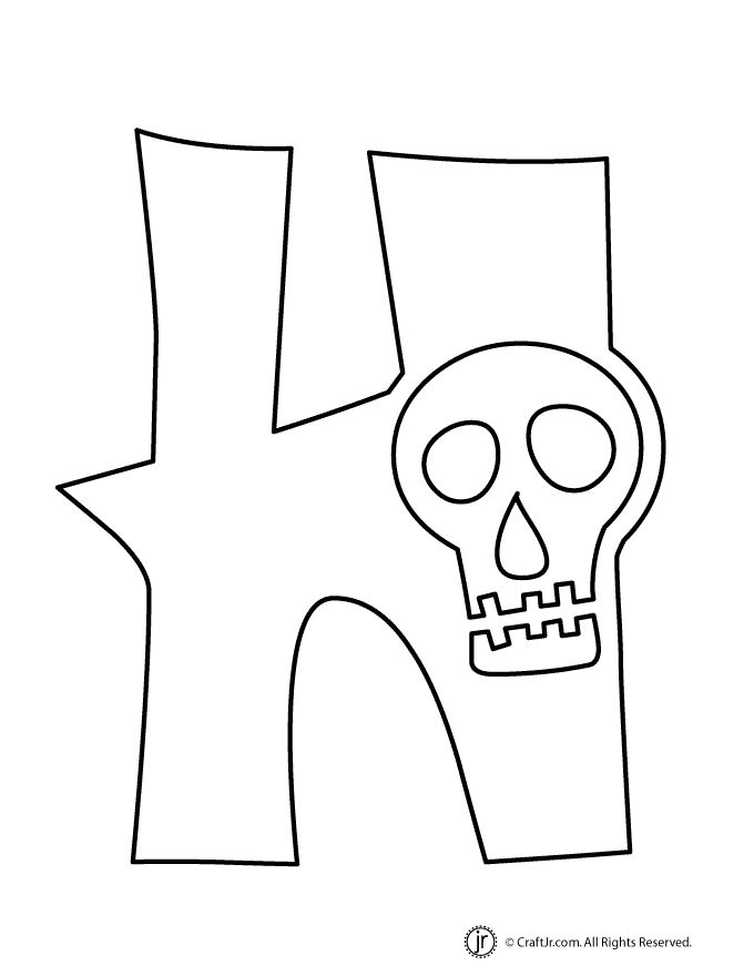 h is for halloween coloring pages - photo #33
