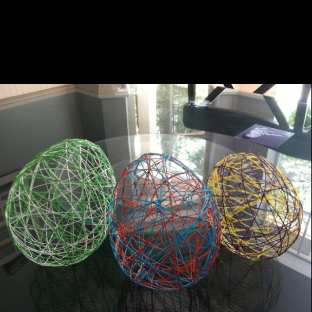 Fun Craft Made Out Of Elmer's Glue, String And Balloons