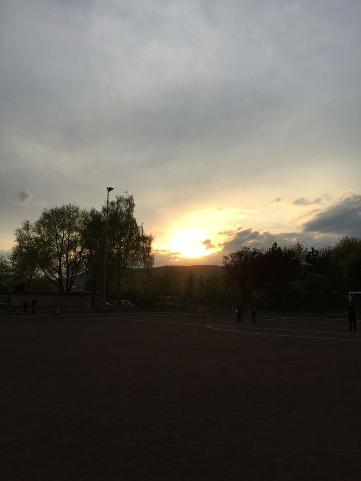 Walpurgis-Sonnenuntergang am Jenzig