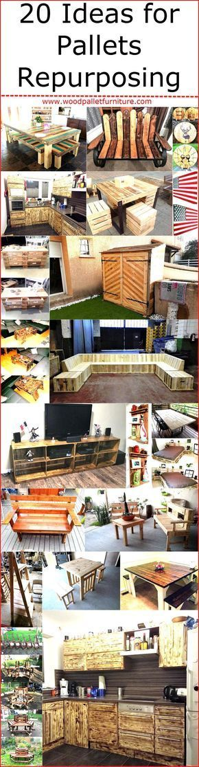 Giving New Life To The Repurposed Wood Pallets Is Not Only Great Because  The Thing That Canu0027t Be Used For Any Purpose Can Be Turned Into An Amazing  Product ...