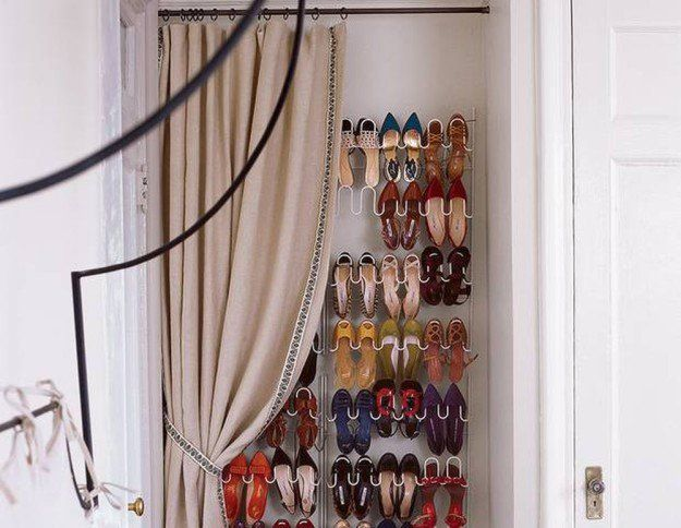 Wall Mounted Shoe Rack | 15 Ingenious DIY Home Projects For Small Spaces