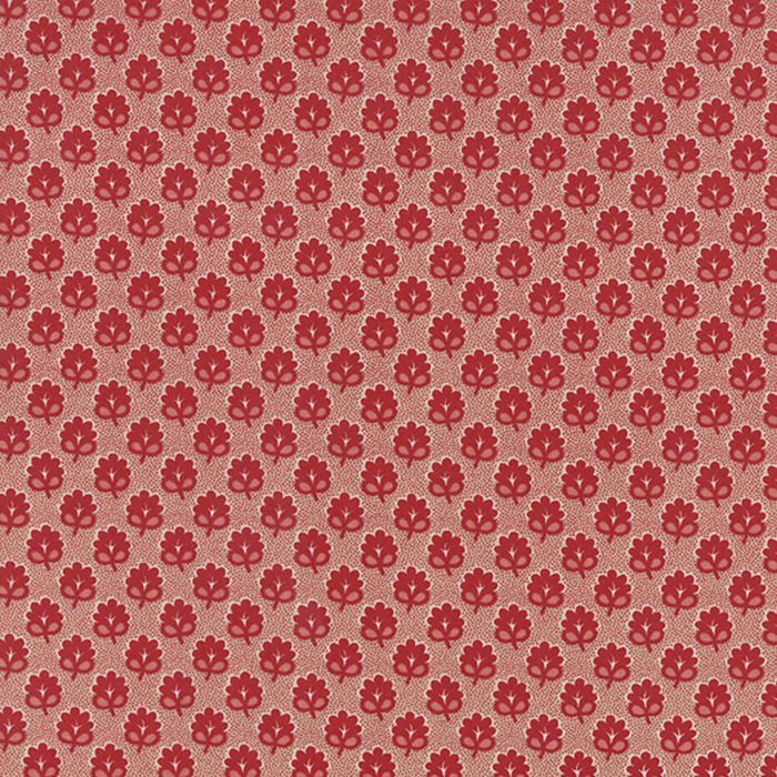 Moda RUE INDIENNE Pascal Rouge 13687 17 Quilt Fabric By The Yard French General