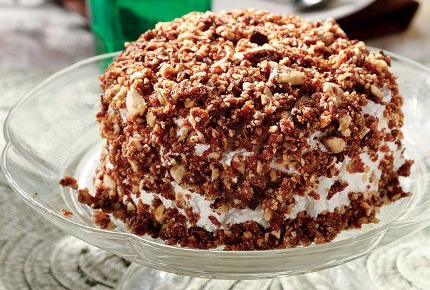 Μια από τις πιο ωραίες λευκές τούρτες, με έντονο το άρωμα του καφέ και του αμυγδάλου.