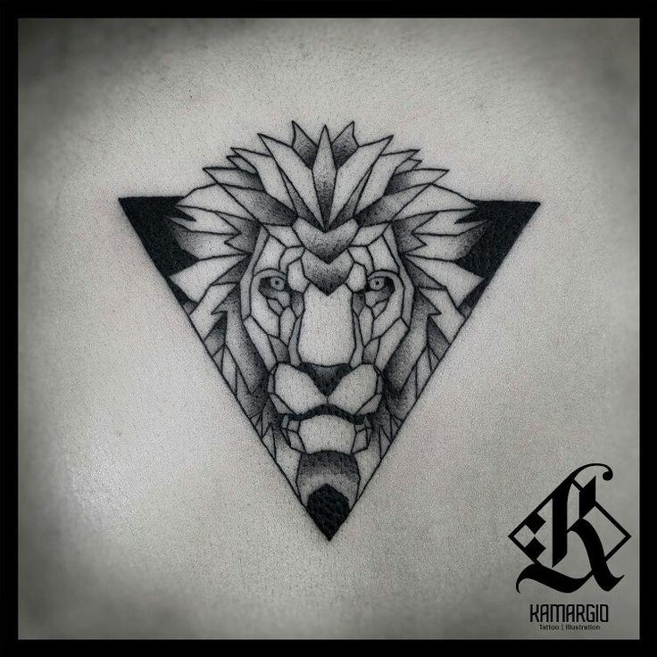 Lion, geometric, animal, geometry