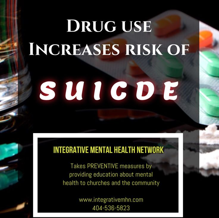 We all know someone who uses or abuses drugs and alcohol. Pay attention, ask questions, seek help. Share with others, it's Suicide Prevention Month! www.integrativemhn.com