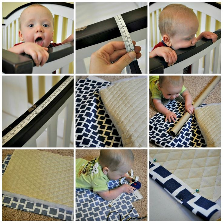 Crib rail teething pad - genius!