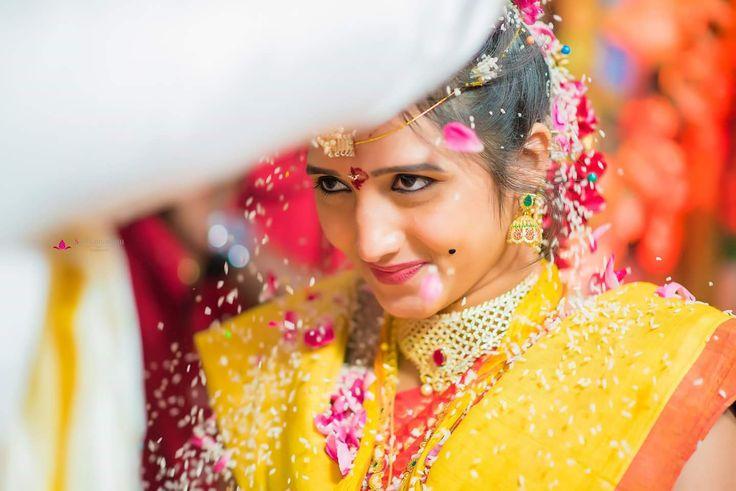 She is so cute! Photo by Sathamanam Productions, Hyderabad #weddingnet #wedding #india #indian #indianwedding #ritual #weddingrituals #indianrituals #indianweddingrituals #weddingnet #wedding #india #indian #indianwedding #weddingdresses #mehendi #ceremony #realwedding