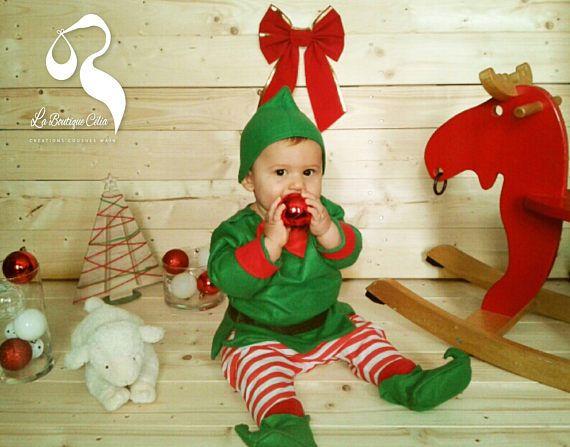 Déguisement bébé Lutin du Père Noël