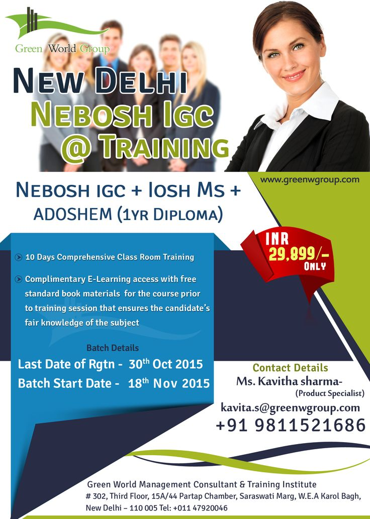 Green World Group Deals With NEBOSH IGC Training In New Delhichennaimumbaikolkatacochin Other Major Cities Of INDIA 29899 INR OnlyEnjoy IOSH MS