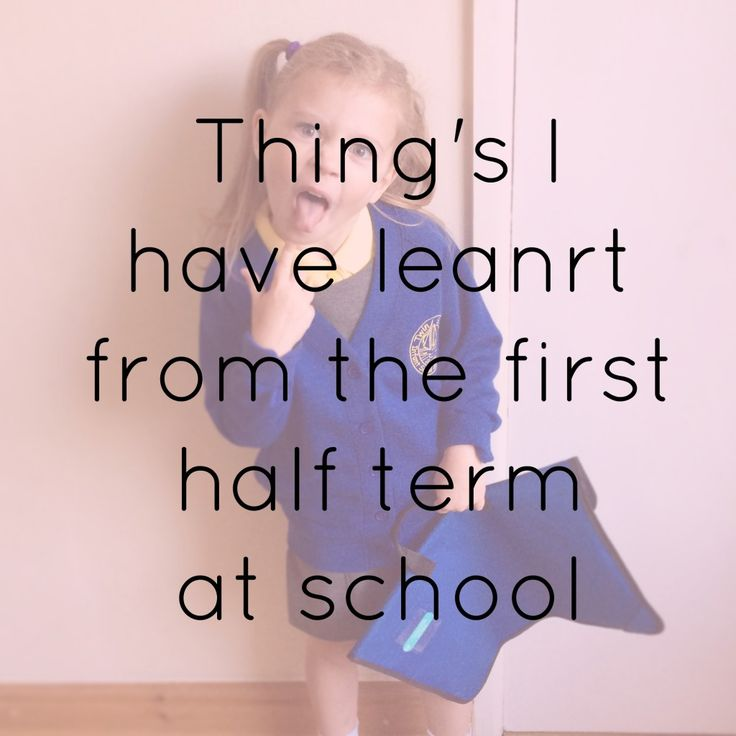 Thing's I have learnt from the first half term at school. Things you need to know when the kids are starting school.