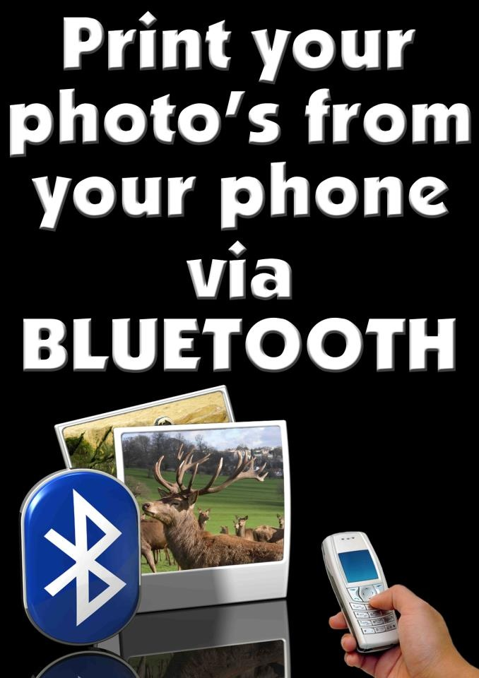 You can come print your photo's from your phone via bluetooth  Come speak to us at Fotofirst Mossel Bay about all the exciting services we offer.