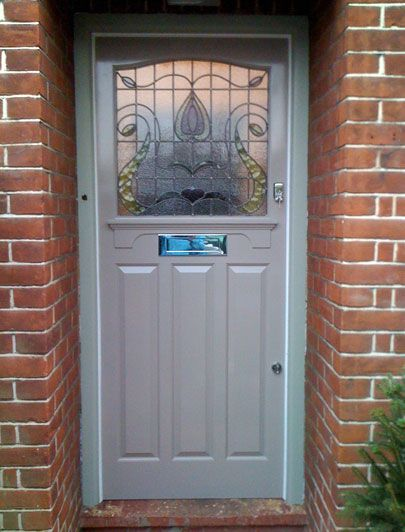 Twenties-inspired front door by the London Door Company