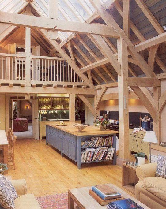 helles Holz für Balken, Wände, Böden, Decken un…