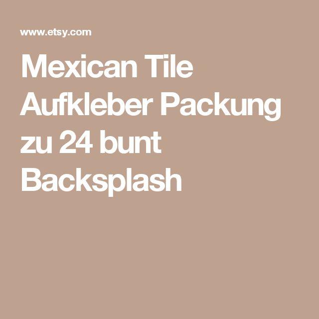 Mexican Tile Aufkleber Packung zu 24 bunt Backsplash