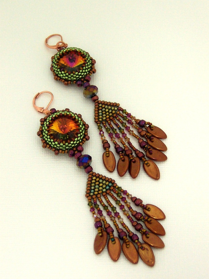 1000 images about bead earrings rivoli on