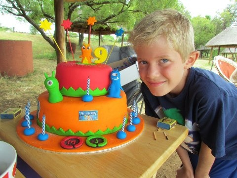 MJs 9th Birthday! 1st Slugterra cake in SA!... will have to figure out something similar for Misha's next birthday.