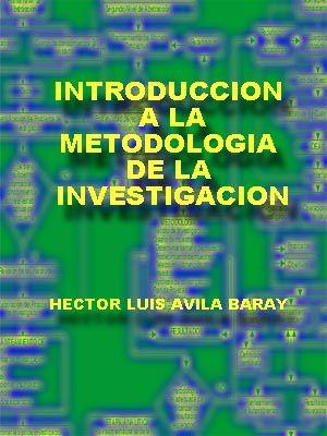 Libro sobre Introducción a la metodología de la investigación