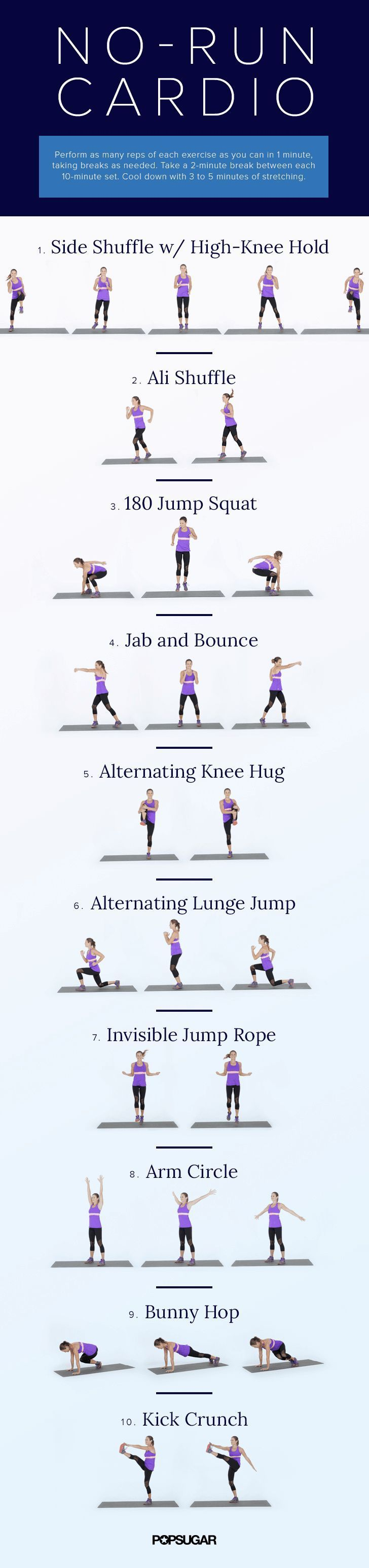 A Calorie-Burning Workout For People Who Hate to Run. And guess what? No treadmill and no equipment needed!