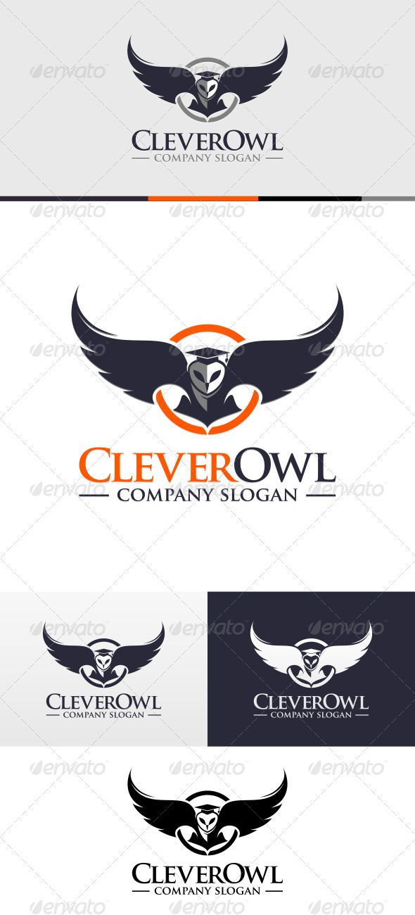 Clever Owl Logo Template