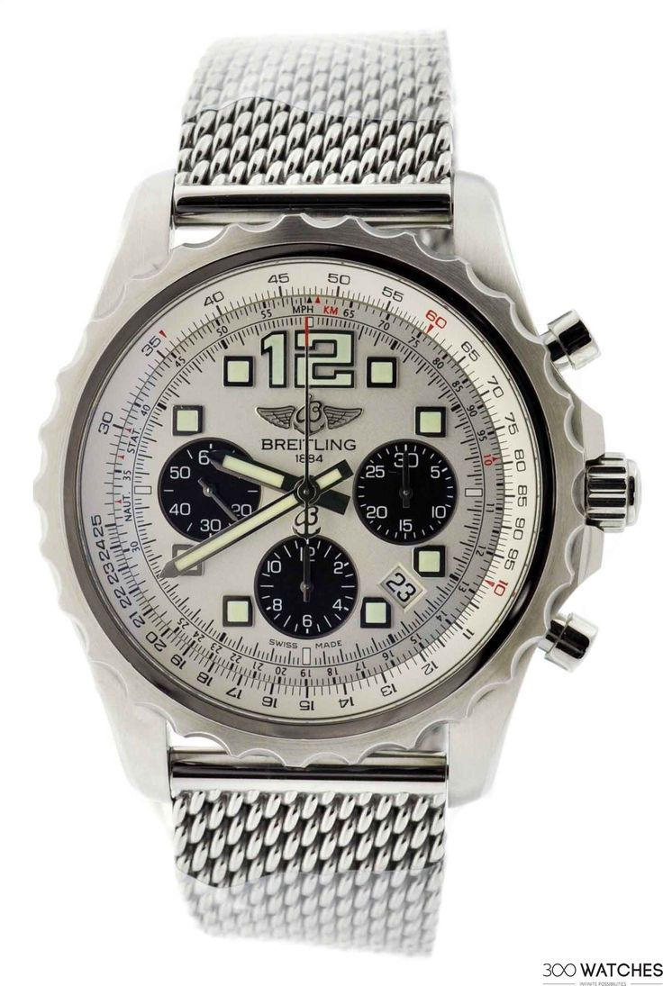 Mens Breitling Chronospace SS Chronograph Automatic Date   chronograph watches for men Item ID: 300W109340   300watches