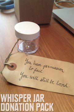 You have permission to fail. You will still be loved.