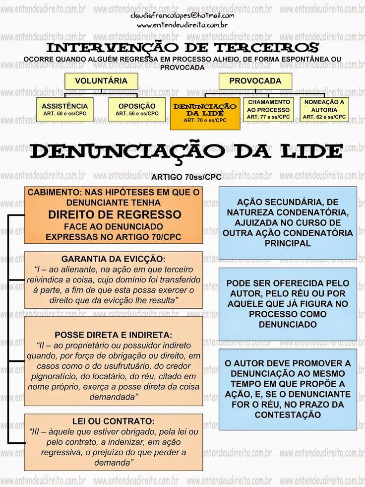 ENTENDEU DIREITO OU QUER QUE DESENHE ???: INTERVENÇÃO DE TERCEIROS