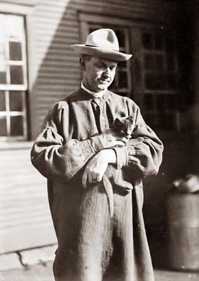 Calvin Coolidge, one-time president of the United States of America and cat lover.