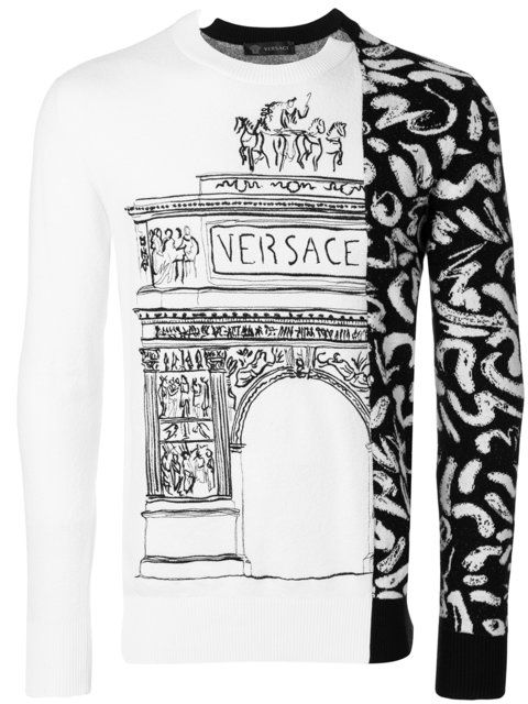 Versace contrast panel jumper