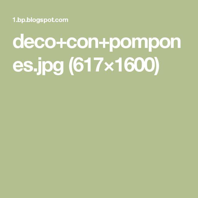deco+con+pompones.jpg (617×1600)