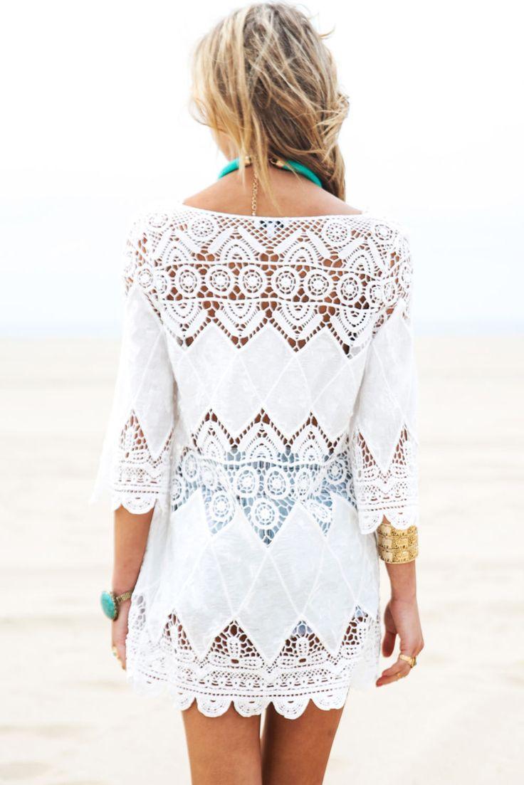 Гавайский платье роковой 2017 лето с длинным рукавом чешские крючком пляж туника платье солнцезащитные выдалбливают халат де plage в 41507