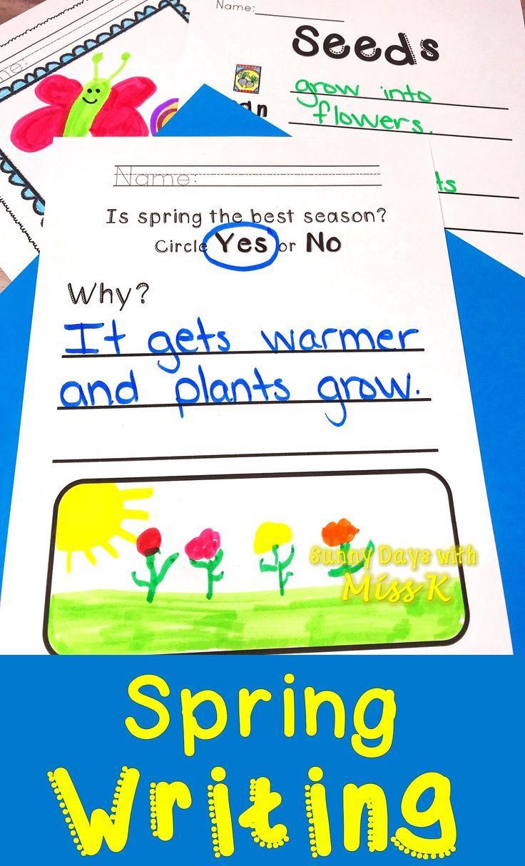 In This Kindergarten Spring Writing Pack Includes 40 Pages Of No Prep Spring Writing Spring Writing Kindergarten Spring Writing Kindergarten Writing Activities [ 1214 x 736 Pixel ]