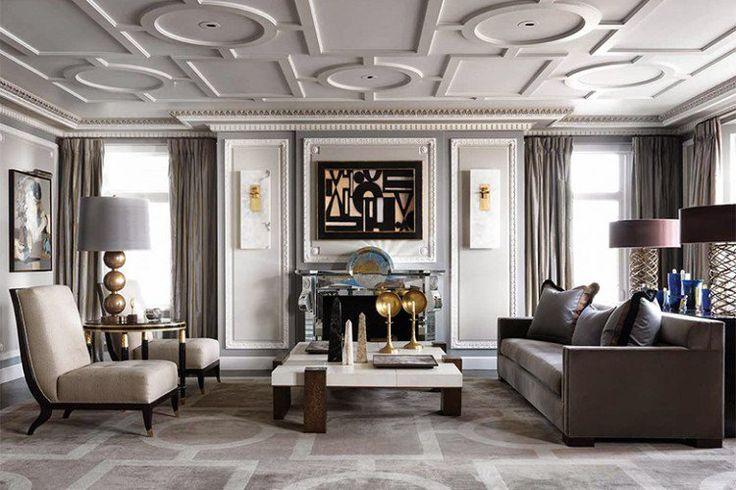 потолок / гостиная /американская классика / ар деко