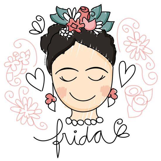 Frida Carinhas Art Print