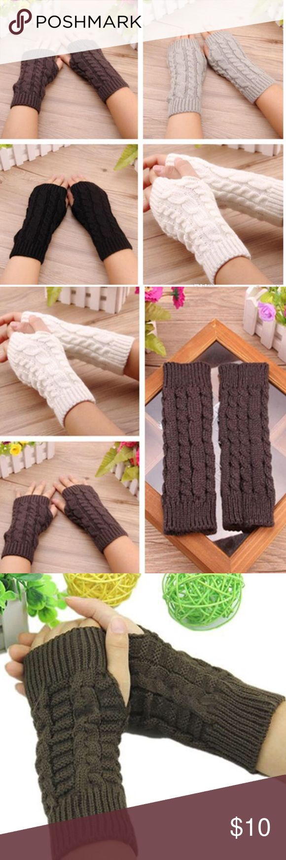 Cable knit hand socks-winter weather cozies Choice of color. Super cozy and warm. Fingers exposed to allow maximum range of motion. So Cal Collective  Accessories Gloves & Mittens