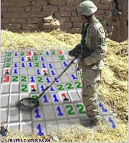 Hahahahaha minesweeper, I love it!