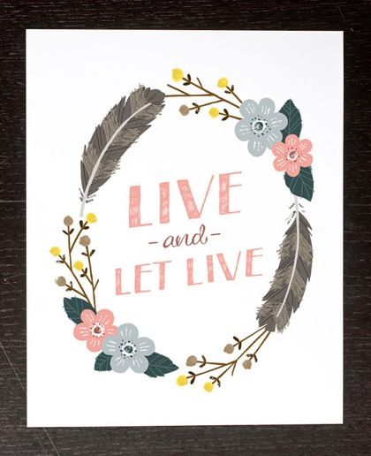 design is mine : isn't it lovely?: thought of the day : live.