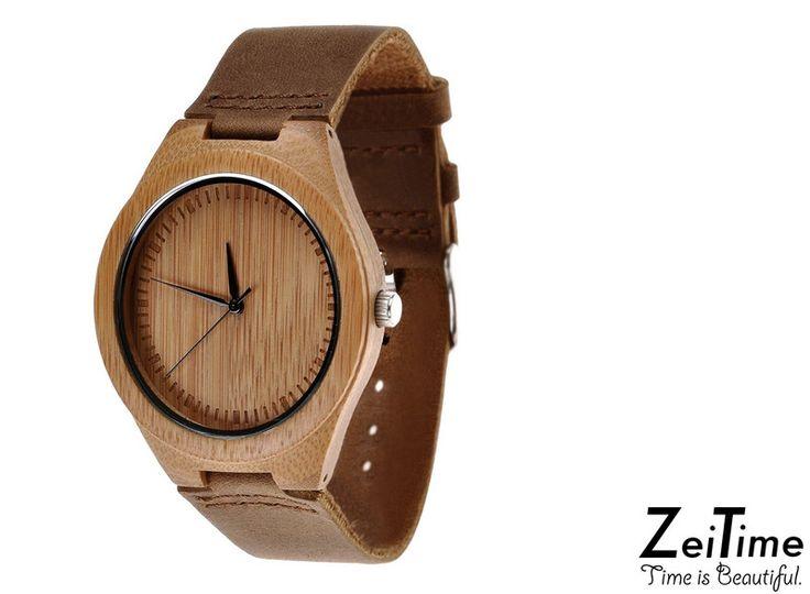 BAMBONINO+WOODY+I+Holzuhr+I+Naturholz+Uhr+von+ZeiTime+-+Time+is+Beautiful+auf+DaWanda.com
