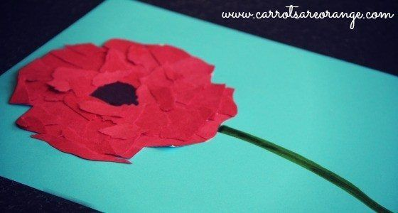 This post shares a Memorial Day Red Poppy Craft and other wonderful Memorial Day activities with Kids.