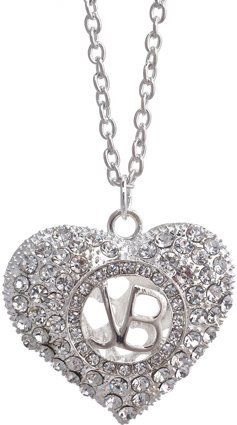 Justin Bieber Crystal Heart Necklace for Jadyn!