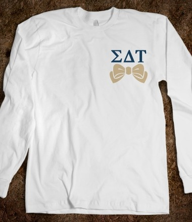 Sigma Delta Tau Long Sleeve Tee - Sigma Delta Tau Bows. Sorority Shirts.