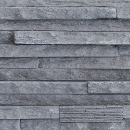 Wandtegel steenstrip palermo grijs 55 x 14,5cm per 1,10m2 | Praxis