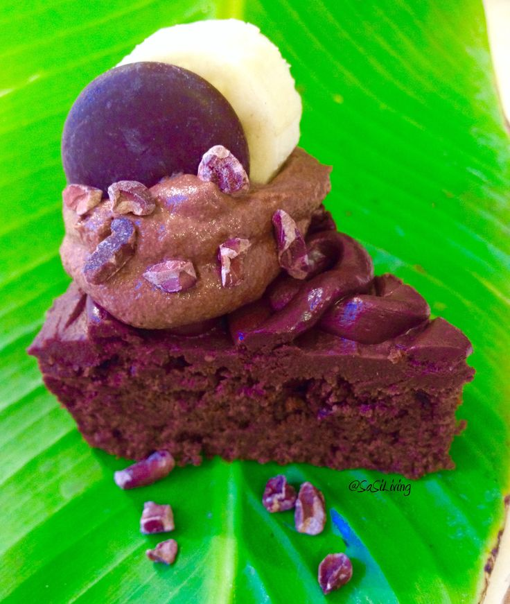 Chocolate Banana Cake with Chocolate Cashew Cream Cheese Frosting and Salted Chocolate Icing