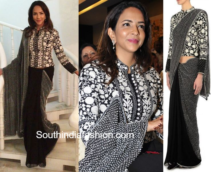Lakshmi Manchu in Shasha Gaba Jacket Saree
