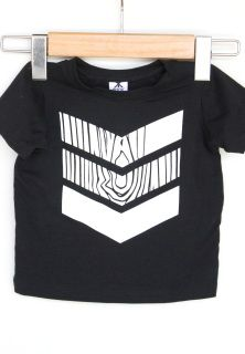 """Our newest art design from Kreetco - this FANTASTIC """"fake wood"""" chevron print! Light weight and soft, black, bamboo fabric. Professionally serged and printed. 6m-8y.  $35 www.brokboys.com"""