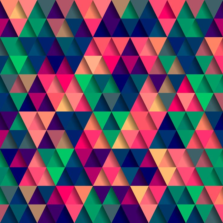 5 Russian Artists You Should Be Following - Colorful triangle mosaic by Max Krasnov, via Shutterstock