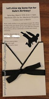 Lavender Sage Designs: karate invitations
