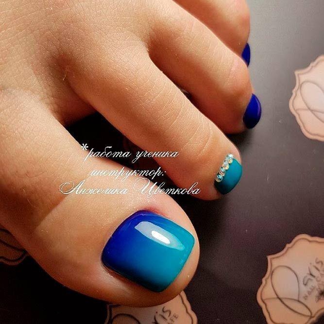 Best 25+ Blue toe nails ideas on Pinterest | Cute toenail ...